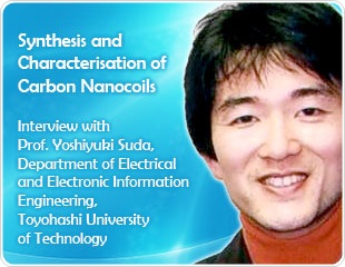 Synthesis and Characterization of Carbon Nanocoils: An Interview with Yoshiyuki Suda